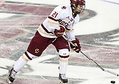 Matthew Gaudreau (BC - 21) - The visiting University of Vermont Catamounts tied the Boston College Eagles 2-2 on Saturday, February 18, 2017, Boston College's senior night at Kelley Rink in Conte Forum in Chestnut Hill, Massachusetts.Vermont and BC tied 2-2 on Saturday, February 18, 2017, Boston College's senior night at Kelley Rink in Conte Forum in Chestnut Hill, Massachusetts.