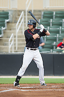 Trey Michalczewski (27) of the Kannapolis Intimidators at bat against the Lakewood BlueClaws at CMC-NorthEast Stadium on July 20, 2014 in Kannapolis, North Carolina.  The Intimidators defeated the BlueClaws 7-6. (Brian Westerholt/Four Seam Images)