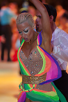 Gaetano Sentina and Eleonora Boccalari from Italy perform their dance during the Ameteur Latin-american Competition of the Blackpool Dance Festival that is the most famous event among dance competitions held in Empress Ballroom Wintergardens, Blackpool, United Kingdom. Tuesday, 27. May 2008. ATTILA VOLGYI