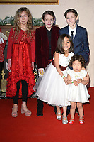 "LONDON, UK. November 21, 2018: Kitty Peterkin, Riley White, Lochlin White,  at the ""Surviving Christmas with the Relatives"" premiere at the Vue Leicester Square, London.<br /> Picture: Steve Vas/Featureflash"