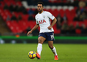 9th December 2017, Wembley Stadium, London England; EPL Premier League football, Tottenham Hotspur versus Stoke City; Mousa Dembele of Tottenham Hotspur in action