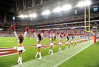 Aug. 22, 2009; Glendale, AZ, USA; Arizona Cardinals cheerleaders perform during the game against the San Diego Chargers during a preseason game at University of Phoenix Stadium. Mandatory Credit: Mark J. Rebilas-