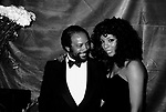 Quincy Jones & Donna Summer at the Savoy Theater in New York City. January 1983