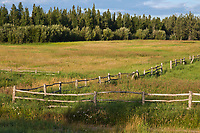 Wooden fence, Delta Junction, Alaska.