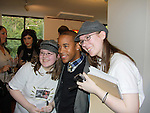 Arvie Lowe, Jr. - original cast member in Newsies movie with fans at VIP reception - The Newsies Fan Day at The Paper Mill Playhouse on October 2, 2010 in Millburn, New Jersey with current cast members and cast members of the film. It was a day of events to all devoted fans of Newsies - Radio Disney at 4 pm, executive reception for members of the original cast of Newsies (the movie) followed by a talkback, Q&A in the theater - all this followed by the evening performance of Newsies with the Curtain Call, old cast meets new cast and a cast photo of all. (Photo by Sue Coflin/Max Photos)