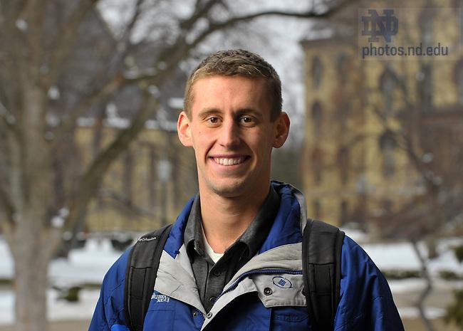 Feb. 24, 2011; Joe Raycroft for Spirit Campaign Newsletter..Photo by Matt Cashore/University of Notre Dame