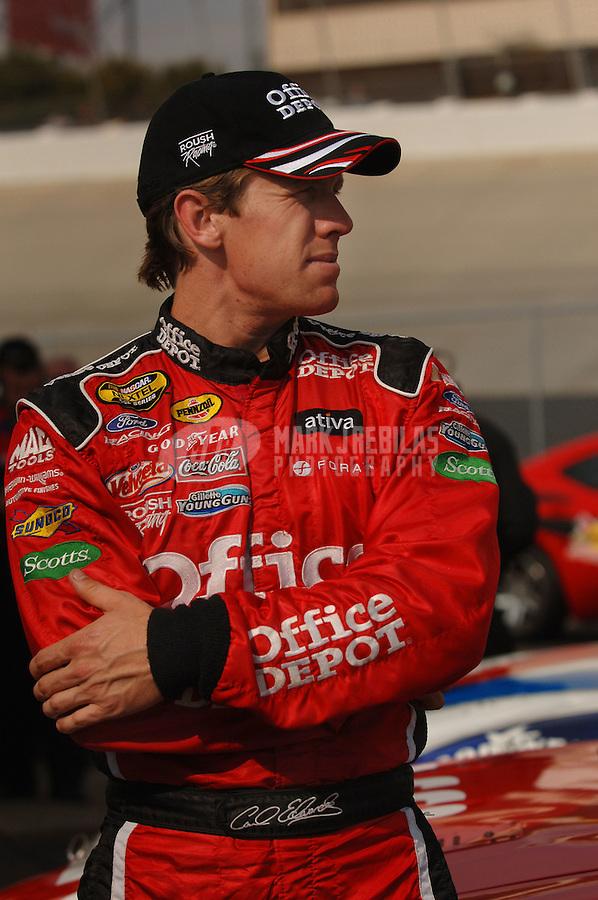 Sept. 24, 2006; Dover, DE, USA; Nascar Nextel Cup driver Carl Edwards (99) during the Dover 400 at Dover International Speedway. Mandatory Credit: Mark J. Rebilas