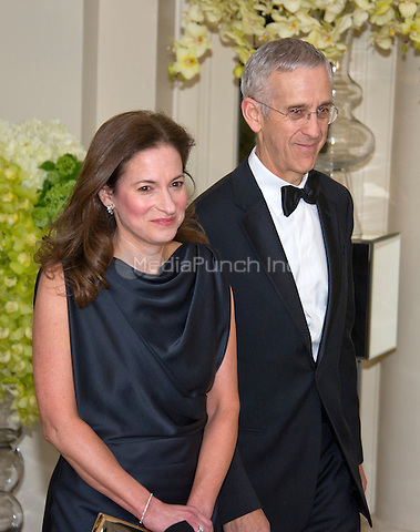 Todd Stern, Special Envoy for Climate Change, U.S. Department of State and Jennifer Klein arrive for the State Dinner in honor of Prime Minister Trudeau and Mrs. Sophie Gr&Egrave;goire Trudeau of Canada at the White House in Washington, DC on Thursday, March 10, 2016.<br /> Credit: Ron Sachs / Pool via CNP/MediaPunch