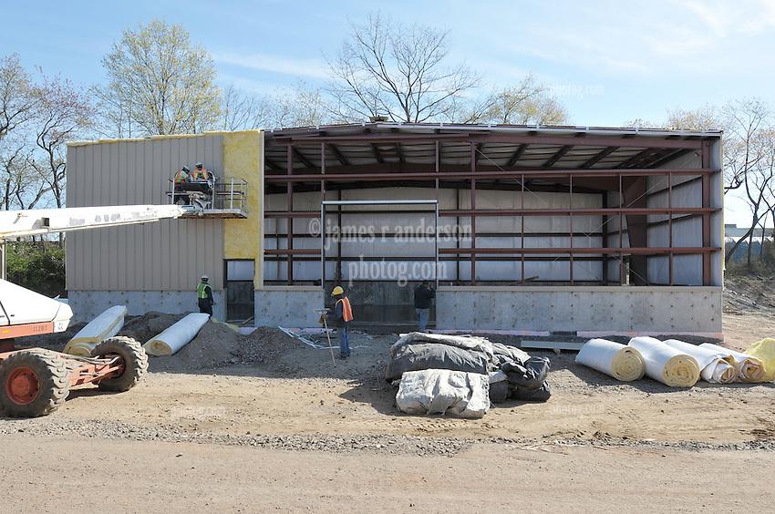 Milford Salt Shed and Stores Building Construction Progress Photography. Site vist 7 of once per month Cronological Documentation. 15 April 2010
