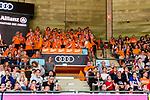 08.06.2019, Audi Dome, Muenchen, GER, BBL Playoff Halbfinale , Spiel 3, FC Bayern Muenchen vs. SC Rasta Vechta, im Bild Rasta Fans feiern ihre mannschaft<br /> <br /> Foto © nordphoto / Straubmeier
