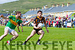 South Kerrys Killian Young gives no ground as Stacks David Mannix tries to find a way through the South Kerry defense.