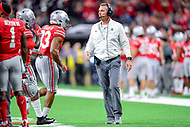 Indianapolis, IN - DEC 1, 2018: Ohio State Buckeyes head coach Urban Meyer during first half action of the Big Ten Championship game between Northwestern and Ohio State at Lucas Oil Stadium in Indianapolis, IN. (Photo by Phillip Peters/Media Images International)