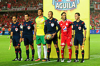 CALI -COLOMBIA-07-11-2016. América Cali y Real Cartagena en partido de la fecha 3 de los cuadrangulares finales del Torneo Águila 2016 jugado en el estadio Pascual Guerrero de la ciudad de Cali. / América Cali and Real Cartagena in match for the date 3 final quadrangular of the Aguila Tournament 2016 played at Pascual Guerrero stadium in Cali. Photo: VizzorImage/ NR / Cont