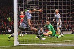 Adnan Januzaj of Manchester United sees his shot cleared from the line by Jason Shackell of Burnley - Manchester United vs. Burnley - Barclay's Premier League - Old Trafford - Manchester - 11/02/2015 Pic Philip Oldham/Sportimage