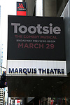 """Theatre Marquee unveiling for """"Tootsie""""  at the Marquis Theatre on February 8, 2019 in New York City."""