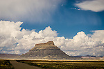 Factory Butte in the Upper Blue Hills of Utah's San Rafael Desert.