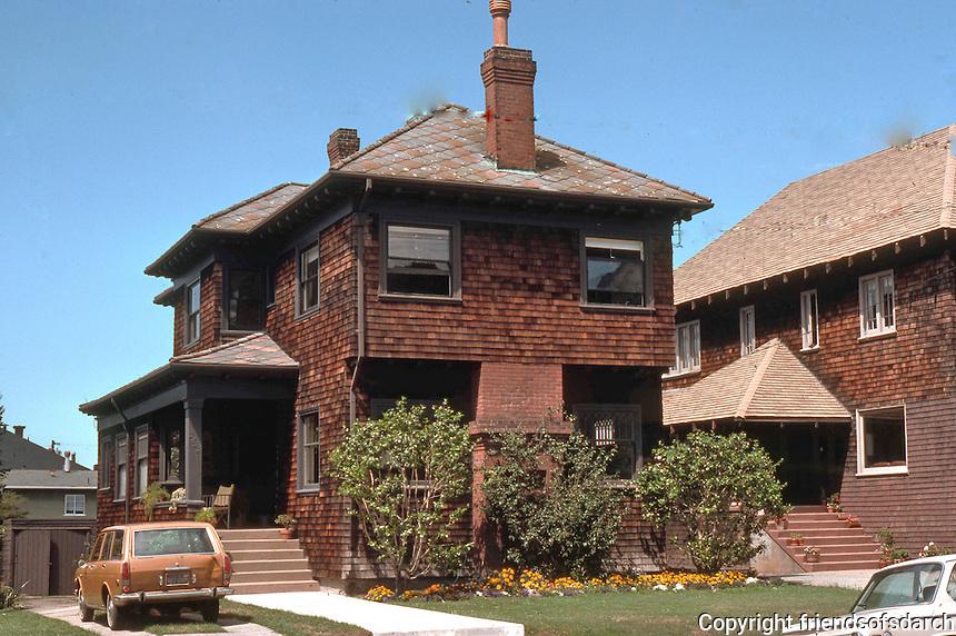 Berkeley CA:  Craftsman Shingle House, 2800 block Benvenue.  Photo '78.