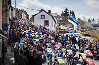 peloton up the iconic Côte de Saint-Roch in Houffalize<br /> <br /> 103rd Liège-Bastogne-Liège 2017 (1.UWT)<br /> One Day Race: Liège › Ans (258km)