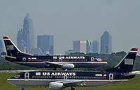Planes take off and land at Charlotte Douglas International Airport in Charlotte, NC.