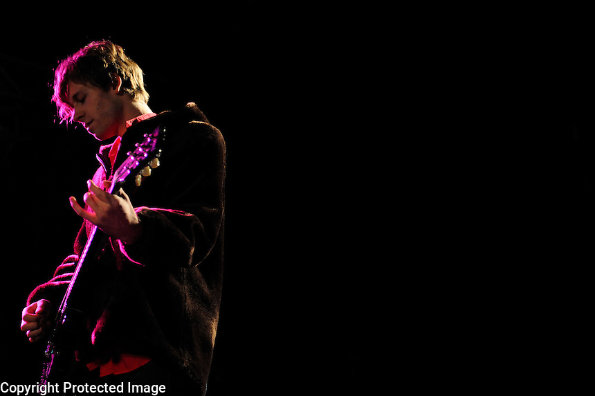 USA. Purchase. 3rd October 2008..Aaorn Pfennig of Chairlift..©Andrew Testa