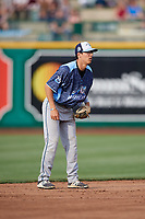 West Michigan Whitecaps shortstop Cole Peterson (19) during a game against the Fort Wayne TinCaps on May 17, 2018 at Parkview Field in Fort Wayne, Indiana.  Fort Wayne defeated West Michigan 7-3.  (Mike Janes/Four Seam Images)