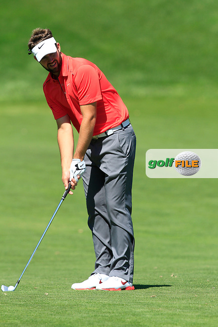 Scott Jamieson (SCO) on the 1st during Thursday's Round 1 of The Open De Espana at The PGA Catalunya Resort. 15th May 2014.<br /> Picture:  Thos Caffrey / www.golffile.ie