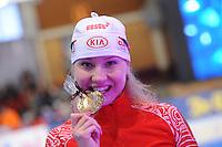 SCHAATSEN: BERLIJN: Sportforum, 06-12-2013, Essent ISU World Cup, Team Russia, Olga Fatkulina, ©foto Martin de Jong