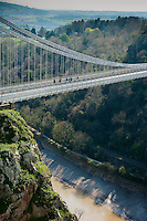 Clifton suspension bridge, Clifton, Bristol, Avon.