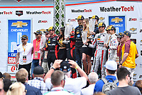 IMSA WeatherTech SportsCar Championship<br /> Chevrolet Sports Car Classic<br /> Detroit Belle Isle Grand Prix, Detroit, MI USA<br /> Saturday 3 June 2017<br /> 31, Cadillac DPi, P, Dane Cameron, Eric Curran, 10, Cadillac DPi, P, Ricky Taylor, Jordan Taylor, 70, Mazda DPi, P, Tom Long, Joel Miller<br /> World Copyright: Richard Dole<br /> LAT Images<br /> ref: Digital Image RD_DTW_17_0421