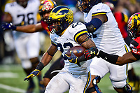College Park, MD - NOV 11, 2017: Michigan Wolverines running back Karan Higdon (22) runs the ball during game between Maryland and Michigan at Capital One Field at Maryland Stadium in College Park, MD. (Photo by Phil Peters/Media Images International)