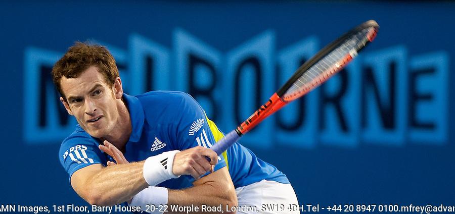 Andy Murray (GBR) (5) against  Rafael Nadal (ESP) (2) in the Quarter Finals of the Mens Singles. Murray beat Nadal due to retirement. 6-3 7-6 3-0..International Tennis - Australian Open Tennis -  Tues 26  Jan 2010 - Melbourne Park - Melbourne - Australia ..© Frey - AMN Images, 1st Floor, Barry House, 20-22 Worple Road, London, SW19 4DH.Tel - +44 20 8947 0100.mfrey@advantagemedianet.com