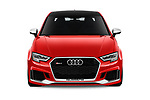 Car photography straight front view of a 2017 Audi RS 3 Base 4 Door Sedan