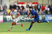 Ben Tapuai of Bath Rugby goes on the attack. Pre-season friendly match, between Leinster Rugby and Bath Rugby on August 25, 2017 at Donnybrook Stadium in Dublin, Republic of Ireland. Photo by: Patrick Khachfe / Onside Images