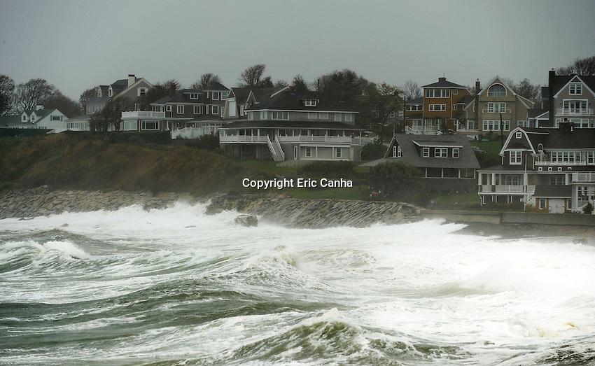October 29, 2012 Scituate Massachusetts: Hurricane Sandy makes her presence known even though she's still hundreds of miles south of Massachusetts.
