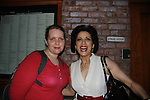 Opening Night of Manipulation and after party at Sardis - Rachel poses with Saundra Santiago after the curtain call of Victoria E. Calderon's play Manipulation on June 28, 2011 at the Cherry Lane Theatre, New York City, New York. (Photo by Sue Coflin/Max Photos)
