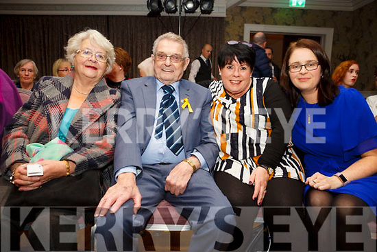 Breda Moynihan, Ted Moynihan, Deirdre Lennon and Eimear Looney from Irish hospice foundation, at the Shaws Fashion Show in aid of the Hospice Foundation at The Rose Hotel on Thursday night
