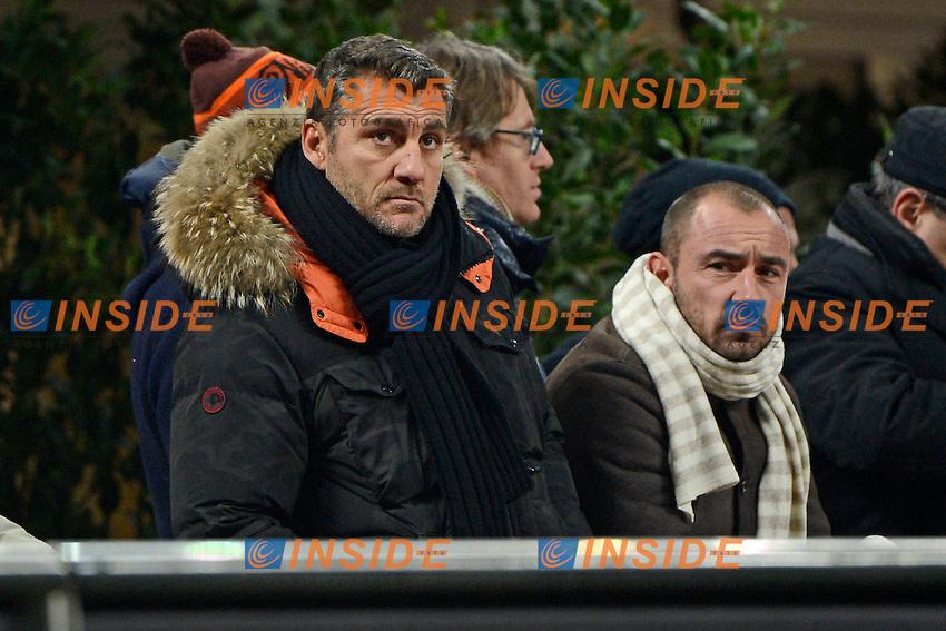 Christian Vieri, Cristian Brocchi<br /> Milano 27-01-2015 Stadio Giuseppe Meazza - Football Calcio Coppa Italia Milan - Lazio. Foto Giuseppe Celeste / Insidefoto