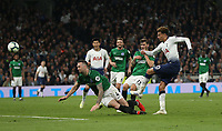 Tottenham Hotspur's Dele Alli with a second half shot<br /> <br /> Photographer Rob Newell/CameraSport<br /> <br /> The Premier League - Tottenham Hotspur v Brighton and Hove Albion - Tuesday 23rd April 2019 - White Hart Lane - London<br /> <br /> World Copyright © 2019 CameraSport. All rights reserved. 43 Linden Ave. Countesthorpe. Leicester. England. LE8 5PG - Tel: +44 (0) 116 277 4147 - admin@camerasport.com - www.camerasport.com