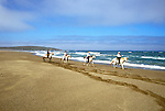 California: Sonoma Coast, horseback ride on beach, Chanslor, Photo: camend105.Photo copyright Lee Foster, 510/549-2202, lee@fostertravel.com, www.fostertravel.com