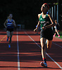 Tori Daniels, seventh grader from Valley Stream North, wins the Division 1 girls 400 meter race during Day 1 of the Nassau County track & field individual championships and state qualifiers at North Shore High School in Glen Head on Wednesday, May 30, 2018.