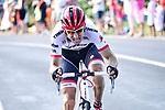 Bauke Mollema (NED) Trek-Segafredo gets away from the breakaway group during Stage 15 of the 104th edition of the Tour de France 2017, running 189.5km from Laissac-Severac l'Eglise to Le Puy-en-Velay, France. 16th July 2017.<br /> Picture: ASO/Pauline Ballet   Cyclefile<br /> <br /> <br /> All photos usage must carry mandatory copyright credit (&copy; Cyclefile   ASO/Pauline Ballet)