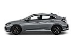 Car Driver side profile view of a 2017 Honda Civic Executive 5 Door Hatchback Side View