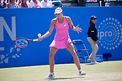 June 15th 2017, Nottingham, England; WTA Aegon Nottingham Open Tennis Tournament day 6;  Yanina Wickmayer of Belgium in action in round two against Johanna Konta of Great Britain