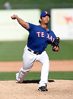Guillermo Moscoso  - Texas Rangers - 2009 spring training.Photo by:  Bill Mitchell/Four Seam Images
