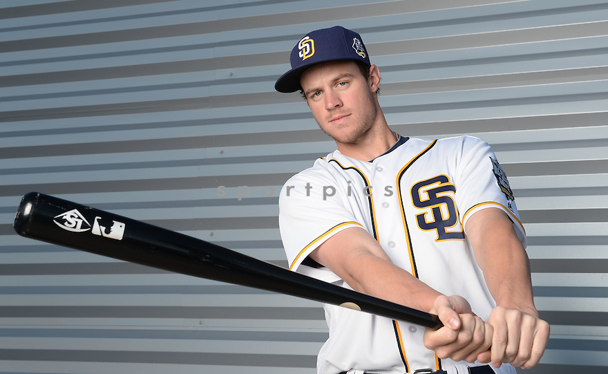 San Diego Padres Wil Myers (4) during photo day on February 26, 2016 in Peoria, AZ.