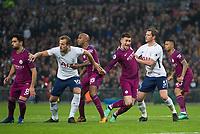 Manchester City America Laporte and Tottenham's Jan Vertonghen during the Premier League match between Tottenham Hotspur and Manchester City at Wembley Stadium, London, England on 14 April 2018. Photo by Andrew Aleksiejczuk / PRiME Media Images.