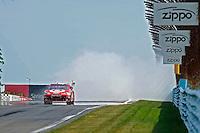 6-8 August, 2010, Watkins Glen, New York USA.Winner Juan Pablo Montoya (#42) does the burnout..©2010 F.Peirce Williams, USA.