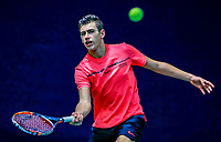 Hilversum, Netherlands, December 3, 2017, Winter Youth Circuit Masters, 12,14,and 16, years, Tijmen Loof (NED)<br /> Photo: Tennisimages/Henk Koster