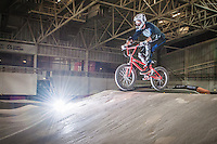 An image from a BMX Session at the National Cycling Centre in Manchester.