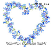 Kate, FLOWERS, BLUMEN, FLORES, paintings+++++Cornflower Heart,GBKM253,#f#, EVERYDAY ,heart of flowers,valentine